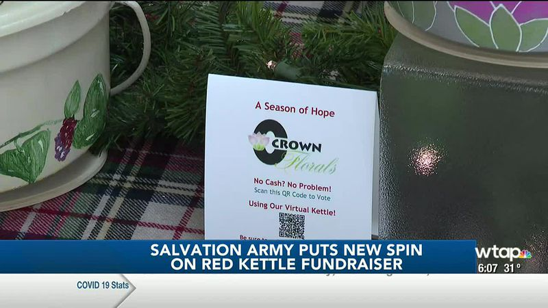 WTAP News @ 6 - Salvation Army puts new spin on Red Kettle fundraiser
