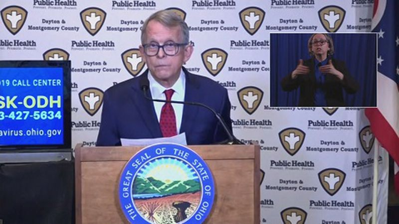 Governor Mike DeWine announces plans to vaccinate college students while visiting a clinic site...