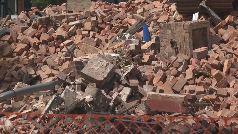 Boley Enterprises building going through demolition