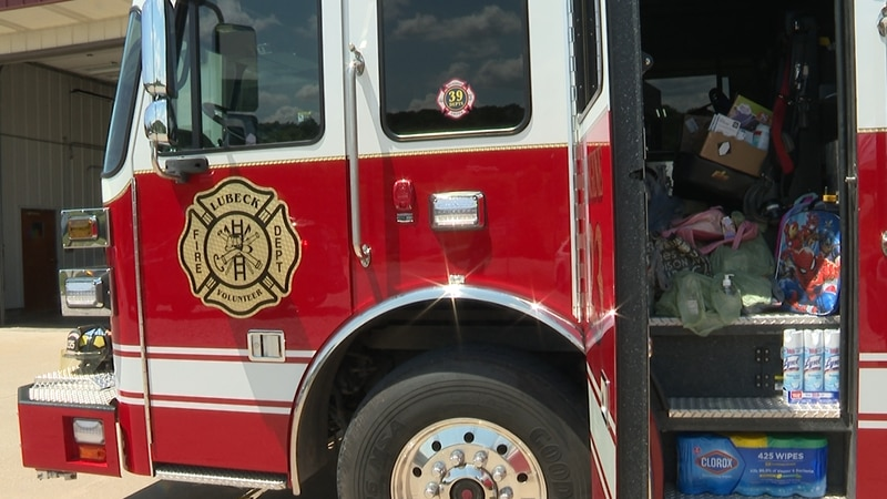 Stuff the Fire Truck with Back to School Supplies