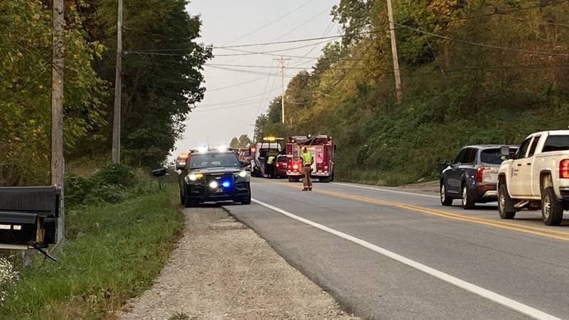 The scene at the Wednesday morning crash
