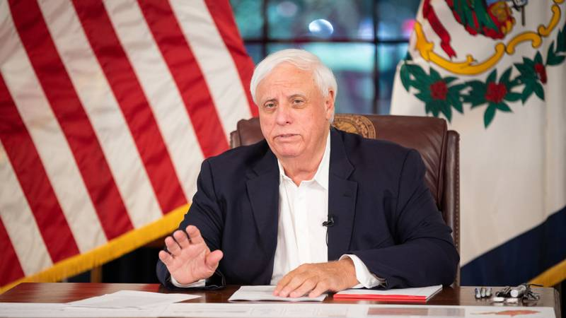 Gov. Jim Justice holds a briefing about COVID-19 and the state's response.