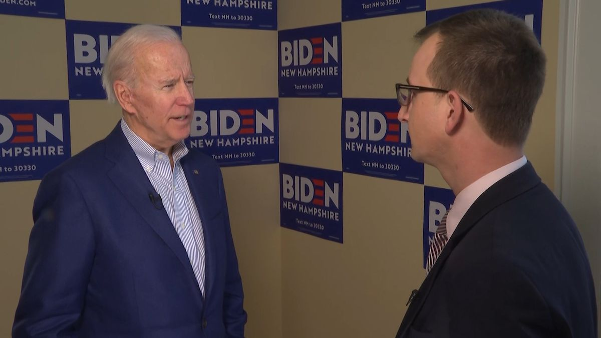 Fmr. Vice President Joe Biden discusses his final push to swing New Hampshire Primary voters with Washington Correspondent Kyle Midura. (Source: Gray DC)