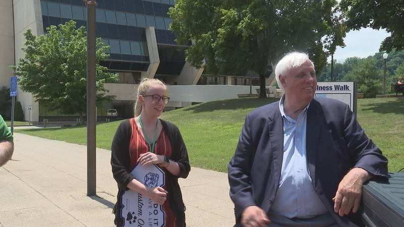Governor Jim Justice surprises Parkersburg resident Ciara Jacobs