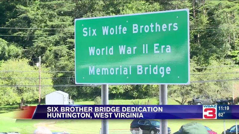 Bridge dedicated in honor of six brothers who served in WWII