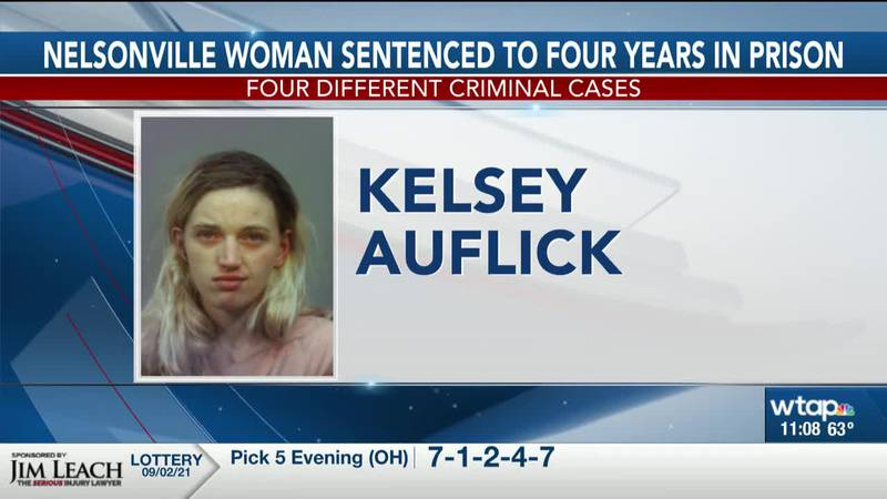 Nelsonville woman sentenced to four years in prison for four different criminal cases
