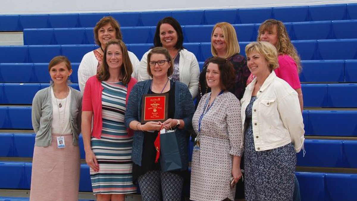 This is the second time a teacher from Warren Elementary has won the Golden Apple.