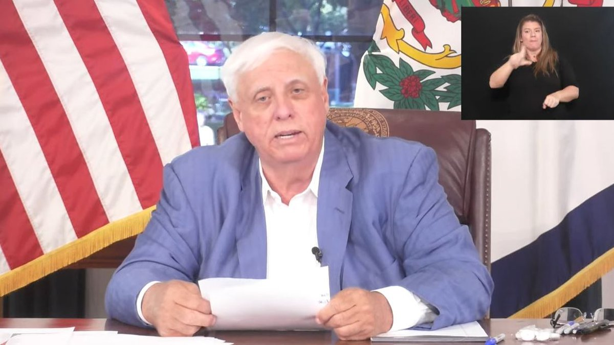 W.Va. Gov. Jim Justice gives an update on COVID-19 and the state's response Wednesday,...