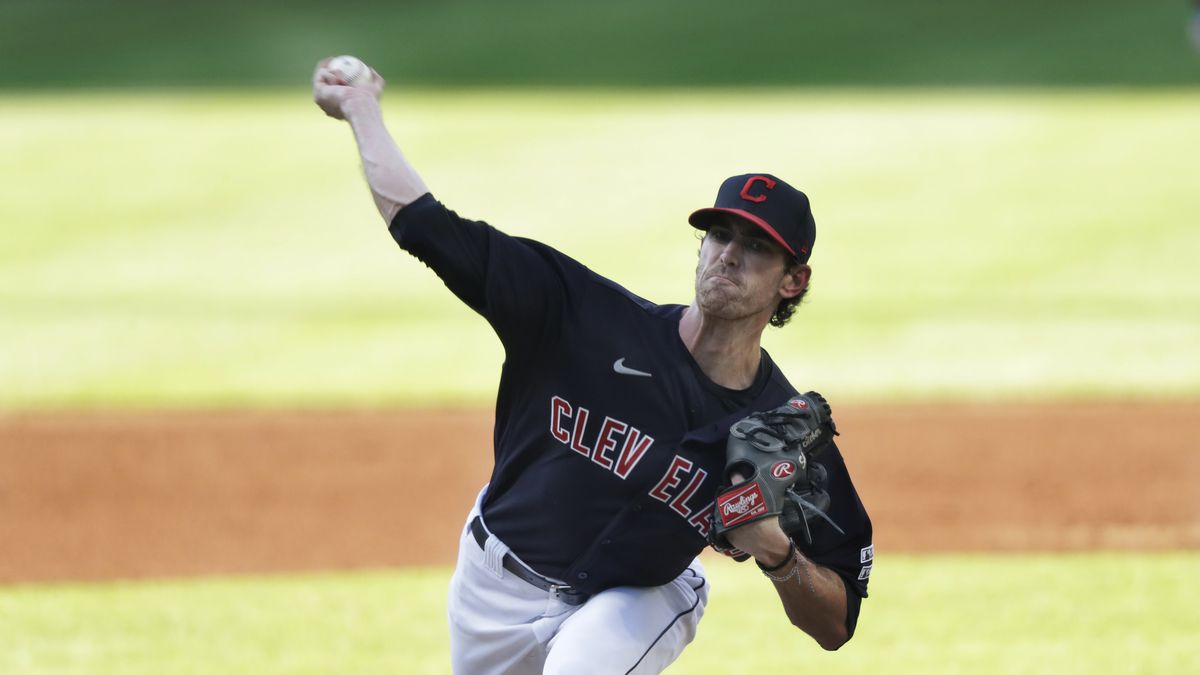 Cleveland Indians Pitcher Shane Bieber to anchor playoff pitching rotation. (AP Photo/Tony Dejak)