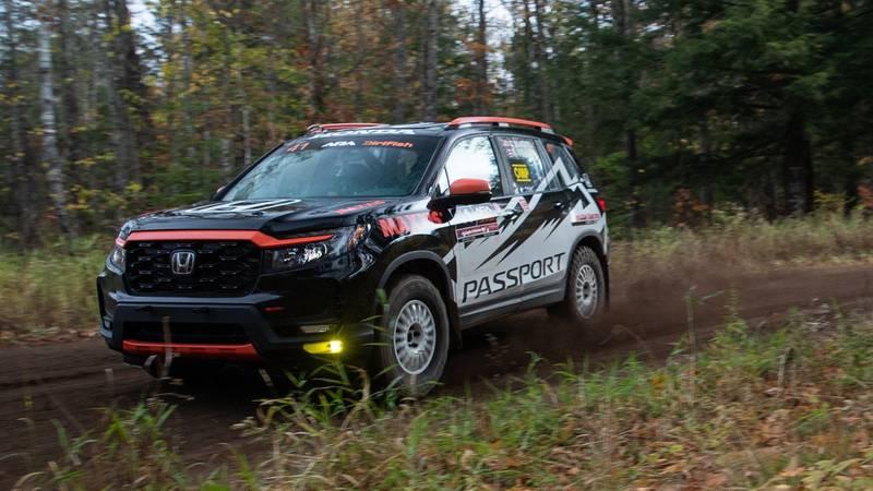 A team of Honda engineers is taking the rugged new Honda Passport rally racing. Honda unveiled...