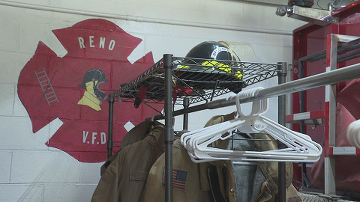 Inside the Reno Volunteer Fire Department in Washington County, Ohio.