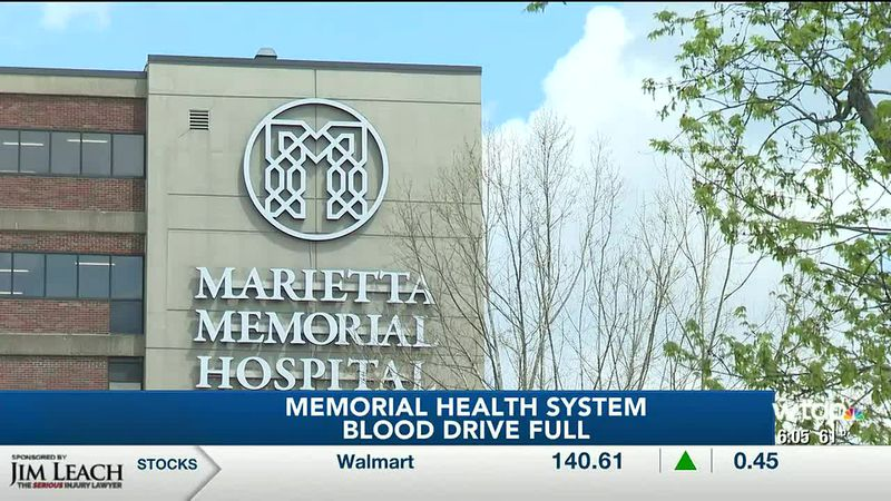 Memorial Health System's Blood Drive for tomorrow has filled up. It is their biggest supplier...