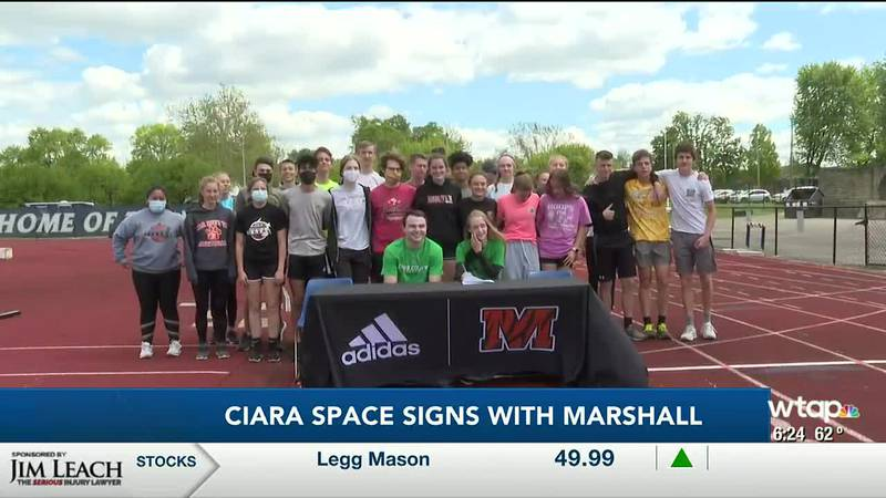 WTAP News @ 6 - Ciara Space signs with Marshall