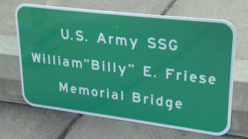 Family and friends gathered to celebrate the life of Billy Friese during a bridge dedication...