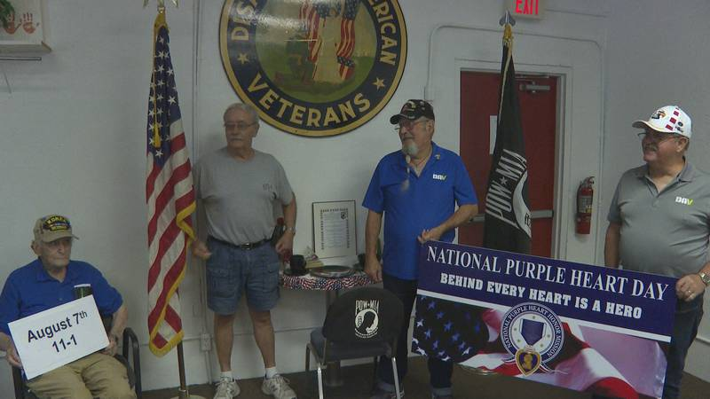 Groups coming together to hold an event for Purple Heart recipients