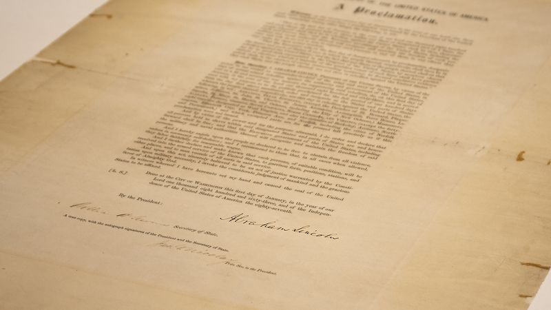This updated handout photo provided by the Abraham Lincoln Presidential Library and Museum on...