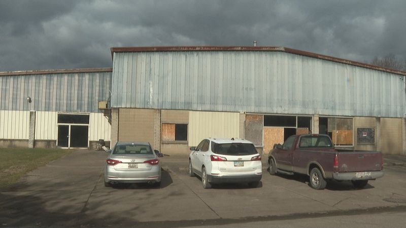 This building will eventually become the Riverfront sports complex