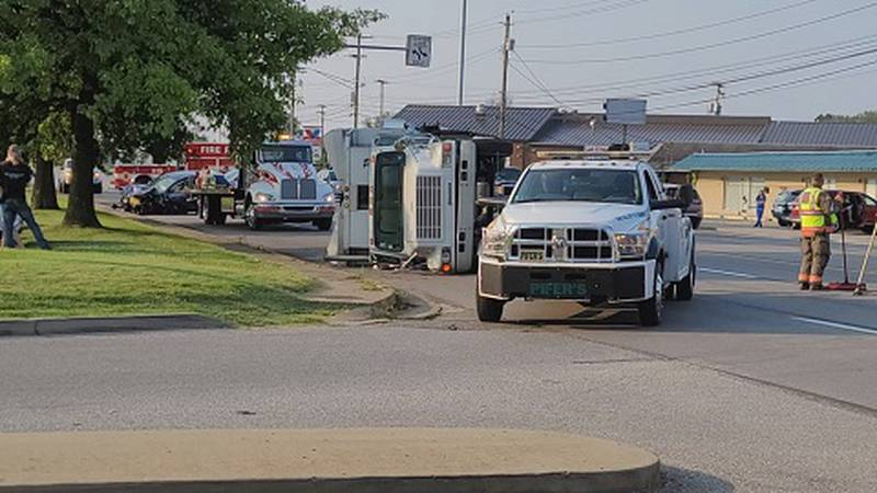 One woman was injured in a four vehicle wreck on Grand Central Avenue Tuesday morning.
