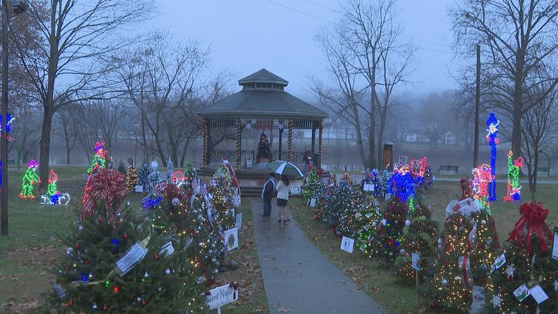 Businesses decorated trees to be displayed at Muskingum Park