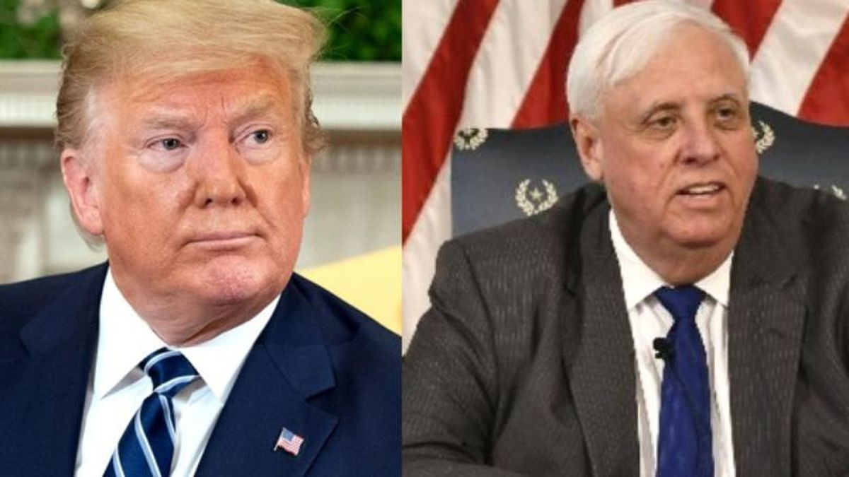 In a series of tweets Sunday, President Donald Trump shared his support for West Virginia Governor Jim Justice and other state leaders ahead of Tuesday's primary.