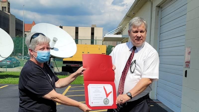 Kirk surprised by Red Cross