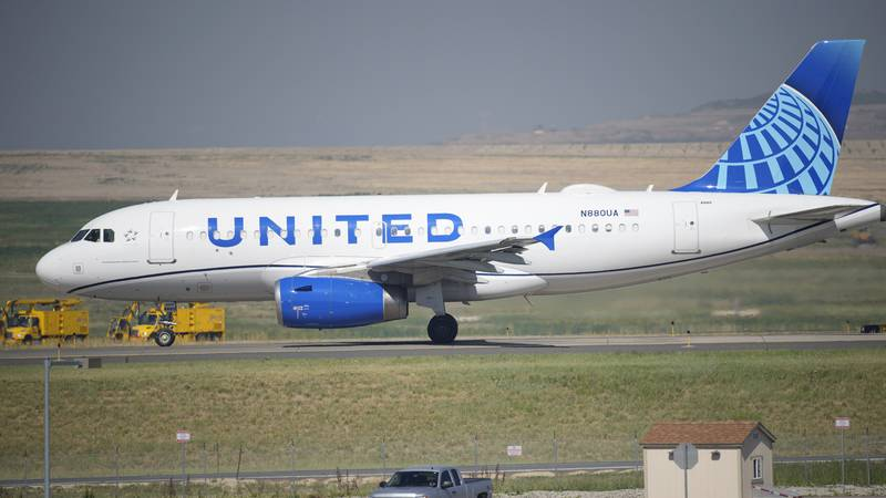 FILE - In this July 2, 2021 file photo, a United Airlines jetliner taxis down a runway for take...