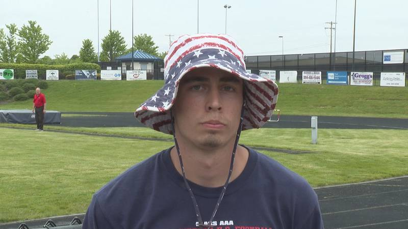 Levi Rice runs track, and plays football and basketball at Parkersburg South