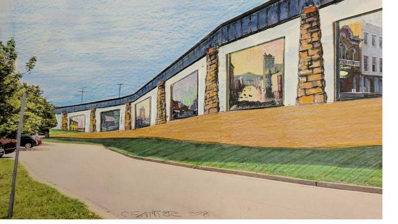 Envisioning the completion of the Parkersburg Floodwall Mural Project.