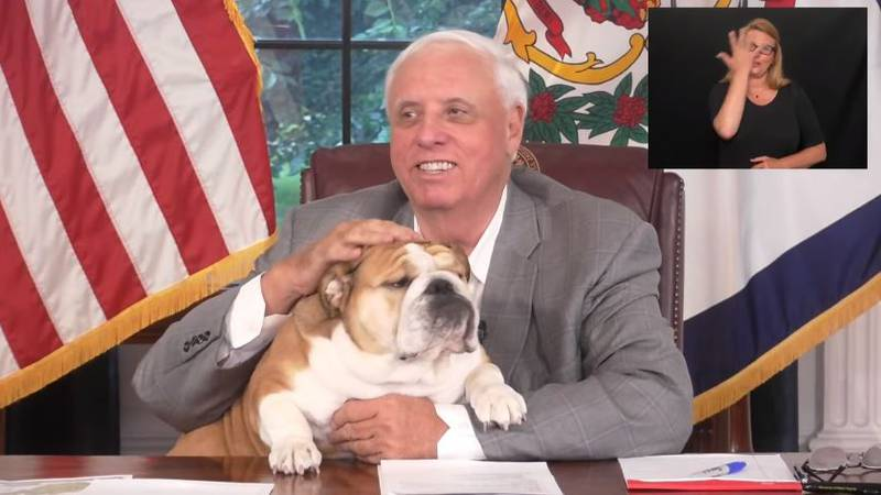 Governor Justice and Baby Dog