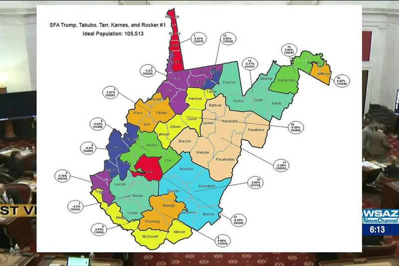 West Virginia Senate passes new redistricting map