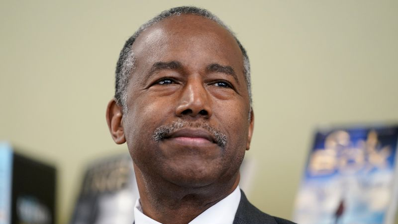 FILE - In this Sept. 22, 2020 file photo, Housing and Urban Development Secretary Ben Carson...