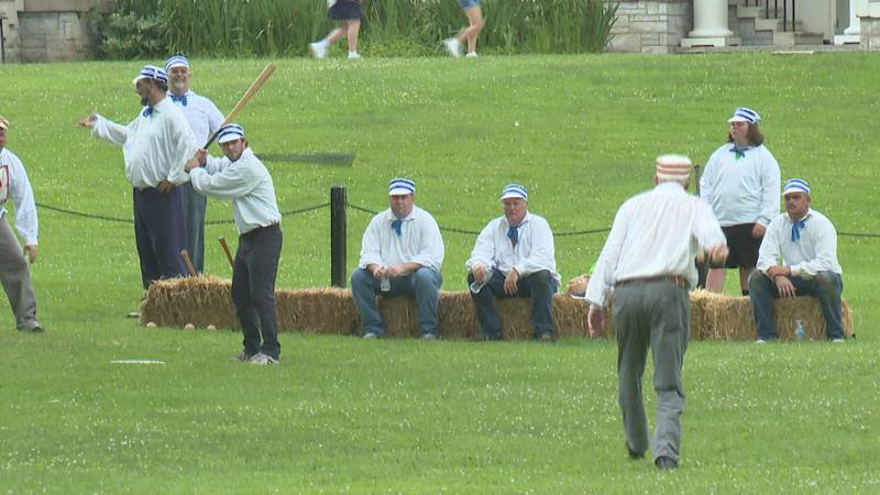 This baseball team travels around the US to host 1860's style baseball games.