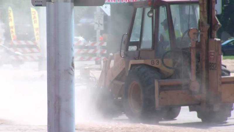Road construction equipment (WBAY file photo)
