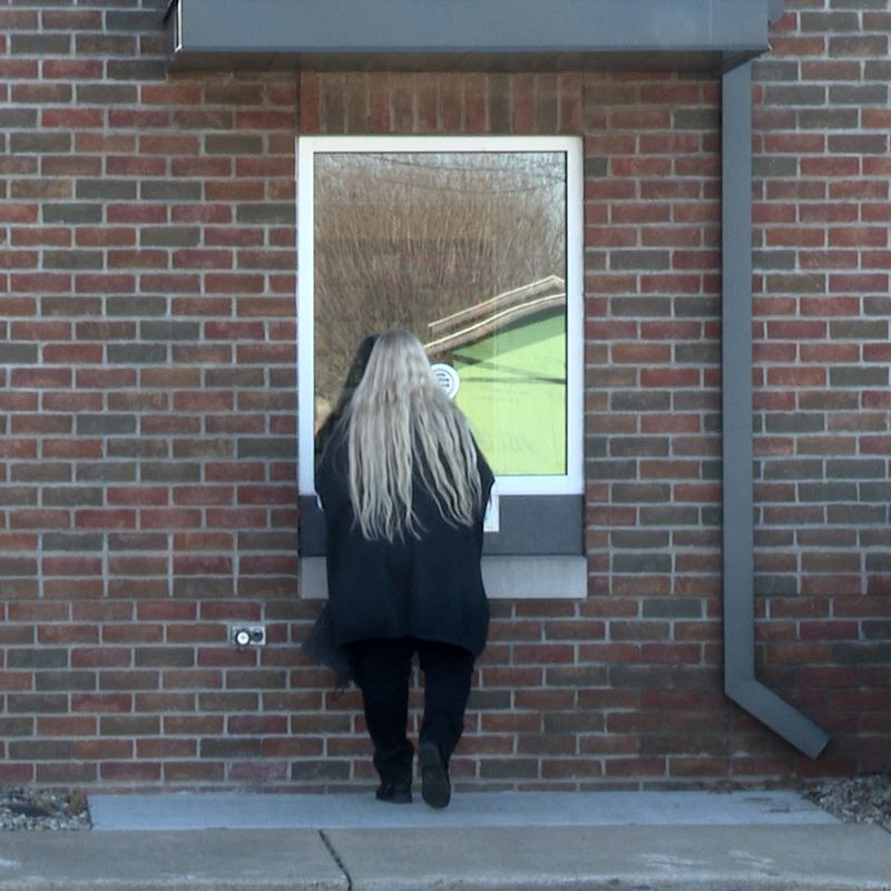 This window is a part of an overarching Covid safety initiative at the municipal building.