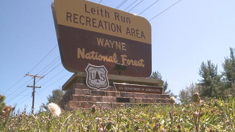U.S. Forest Service crews are battling a fire in the Wayne National Forest in Washington County.
