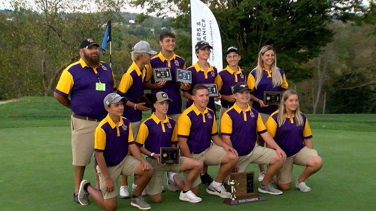 The St. Marys golf team wins the Class A champion.