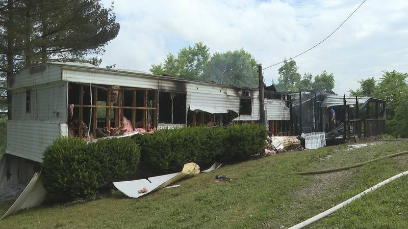 Fire damages trailer in Washington County