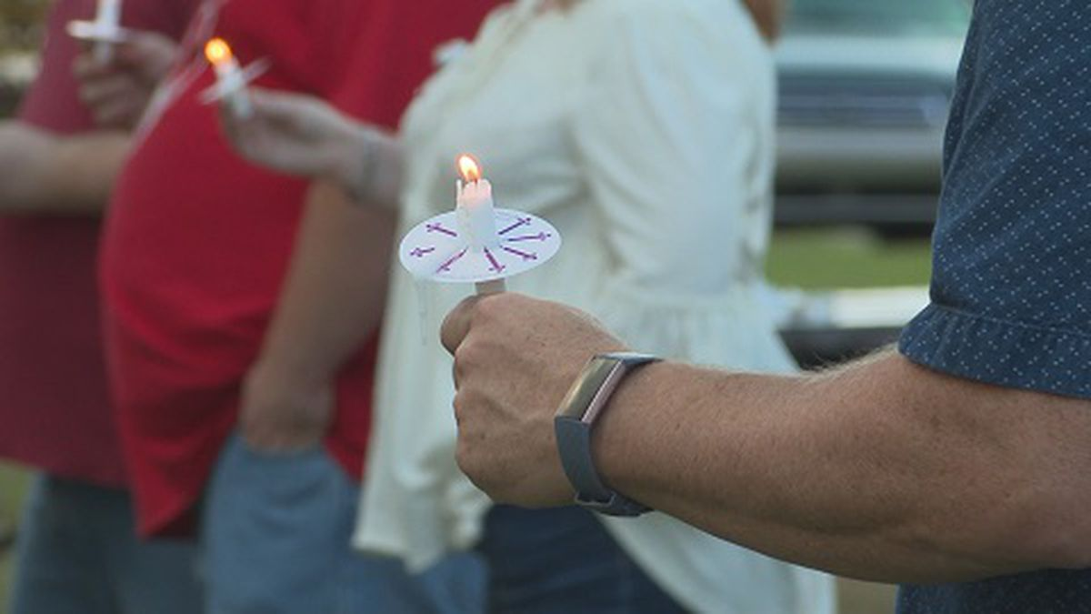 More than fifty community members attended a candlelight vigil for a Parkersburg boy battling cancer.