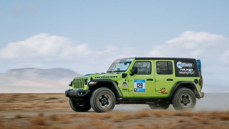 The Jeep® Wrangler sweeps the podium at the 6th Rebelle Rally and is the first electrified...