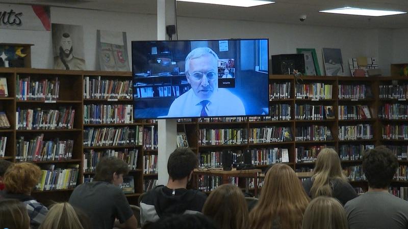 Jim Tressel speaks to PHS students