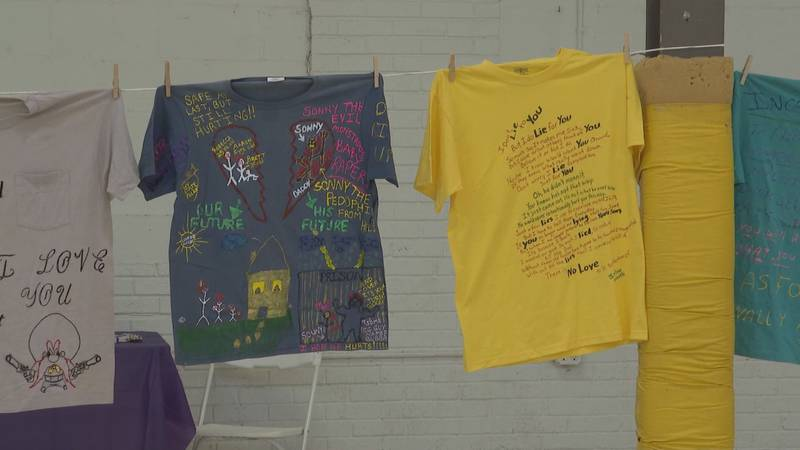 The t-shirts you see are all victims who spoke up and, thanks to The Clothesline Project, they...