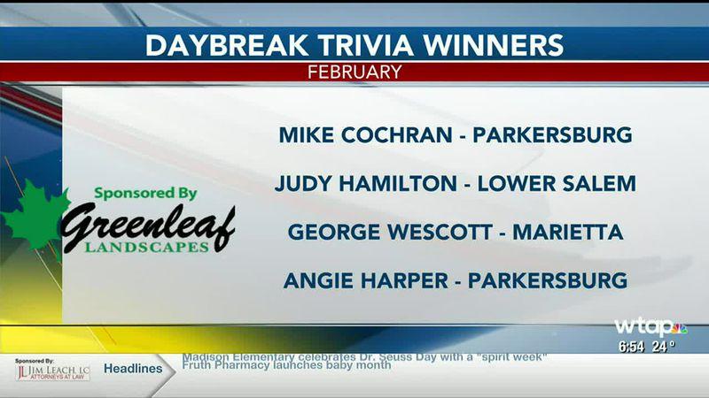 Trivia Winners
