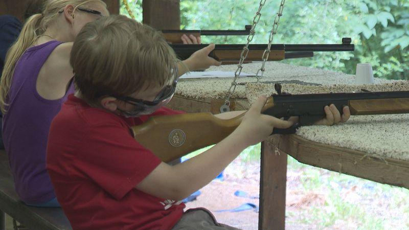 Noah says his favorite activity so far has been BB gun shooting.