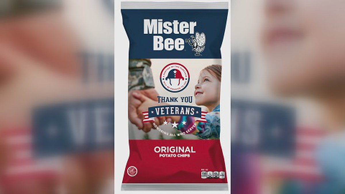 This specially marked bag of Mister Bee's potato chips was designed in 2019 by the company's...