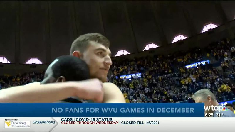 WTAP News @ 6 - No fans for WVU games in December