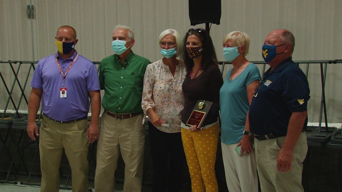 Kindergarten teacher Megan Greer of Greenmont Elementary wins the September  Jan Dils Golden...