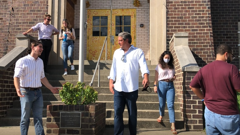 Congressman Tim Ryan speaks to local Athens residents