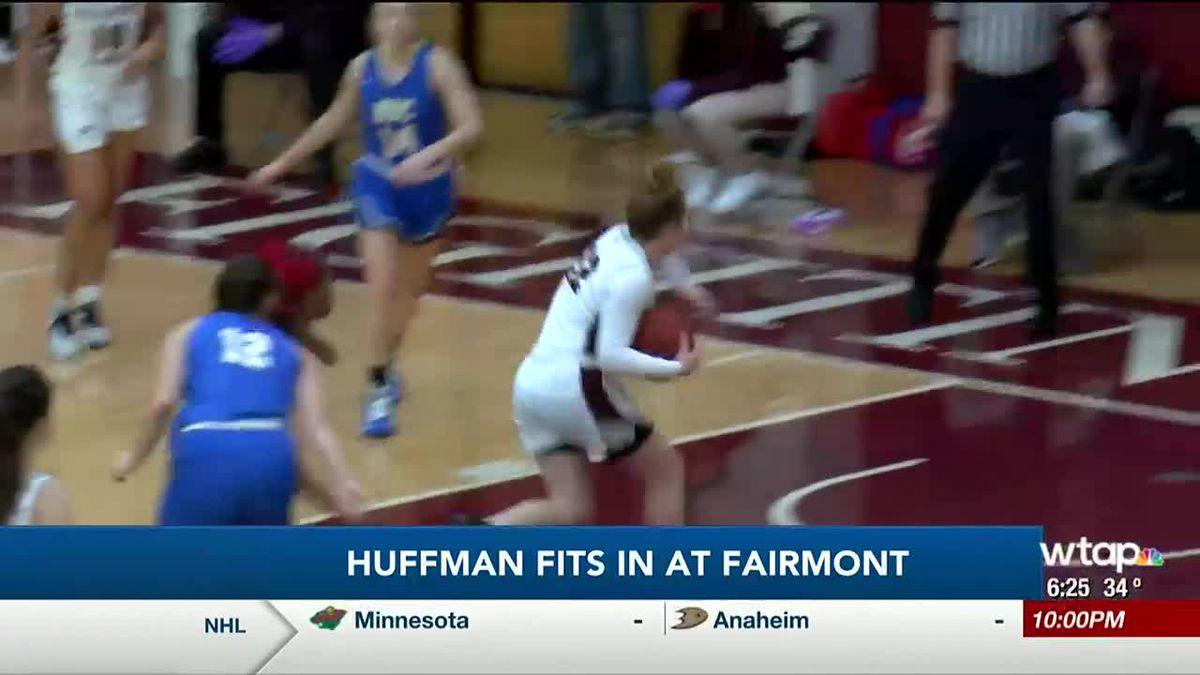 Huffman is adjusting to college basketball  play