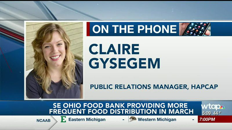 WTAP News @ 5 - SE Ohio Food Bank providing more frequent food distribution in March