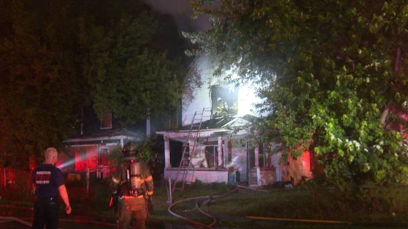Unoccupied home on 13th and Ramsey catches fire